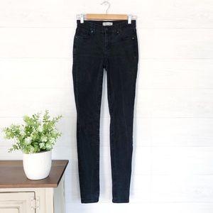 Madewell Black Skinny Skinny High Rise Jeans